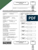Formato de Examenes BIMESTRAL HISTORIA Primaria