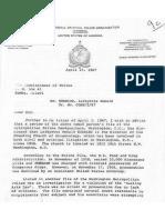 US Interpol Replies to Malawi police April 1967