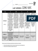 vocabulary rubric - using words in a meaningful original sentence  pdf
