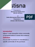 Bai Istisna by Mufti Mujeeb