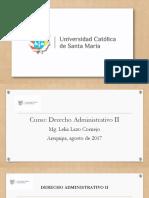 Derecho Andministrativo II (UCSM) 2017