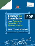Sesiones de aprendizaje para Educación Secundaria en ámbitos rurales, área de comunicación. 1er. grado de secundaria.docx