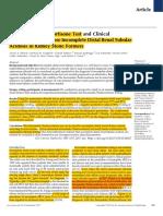 Litiasis Acidosis Tubular Renal Test de Furosemida