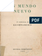 UN MUNDO NUEVO - Jiddu Krishnamurti