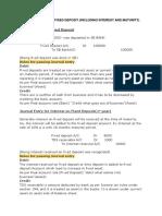 Journal Entry for Fixed Deposit