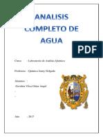 Analisis Completo Del Agua. 1