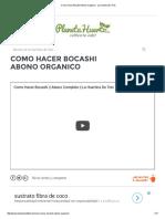 Como Hacer Bocashi Abono Organico - La Huertina de Toni