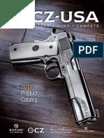 Cz Usa 2018 Firearms Product Catalog