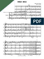 Jingle Bells = Brass Quintet - score and parts