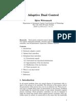 Adaptive Dual Control