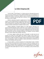 Ensayo La Libre Empresa (II) Joseph Sanchinelli