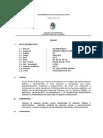Silabo de Derecho Público y Administrativo 2017