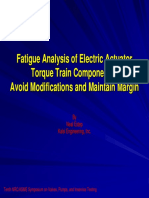 Fatigue Analysis Electric Actuator