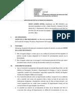 Desalojo Por Vencimiento Contrato UCSM 2018
