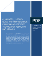 C_HANATEC_13 Study Guide and How to Crack Exam on SAP Certified Technology Associate - SAP HANA 2.0