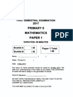 P6 Maths SA1 2017 Nanyang Exam Papers
