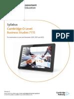 Business Studies Syllabus