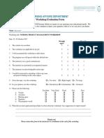 Workshop Evaluation Form