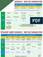 Redlands Games Carnivale Timetable