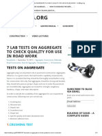7 Lab Tests on Aggregate to Check Quality for Use in Road Work - Civilblog