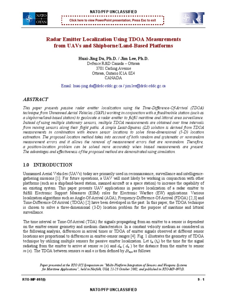 TDOA   Estimation Theory   Least Squares