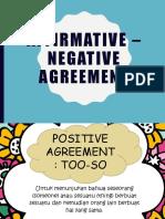 Affirmative Negative Agreement