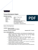 Torang Shakespeare Siagian - Assistant Tax Manager - Prime Consult