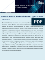 Blockchain & Cryptocurrency Seminar- JIMS Rohini