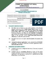 Detailed Notification of Gujarat High Court