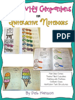 Interactive Notebook Craft i Vity Companions Freebie