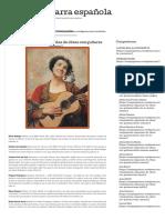 Las compositoras españolas de obras con guitarra « Mujer y guitarra española