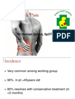 Low Back Pain - Dr Herman Gofara
