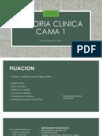 Historia Clinica Cama 1