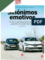 "RENAULT CLIO R.S. TROPHY FRENTE AO PEUGEOT 208 GTi E VW POLO GTI NA ""AUTO FOCO"""