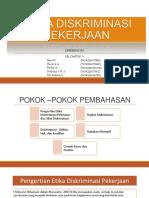PPT Etika Diskriminasi Pekerjaan Fixx