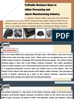 List of Profitable Business Ideas in Rubber Processing and Rubber Products Manufacturing Industry.