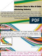 List of Profitable Business Ideas in Wire & Cable Manufacturing Industry.