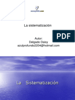 La Sistematizacion