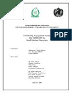 Implementation of FSMS ISO 22000:2005 in Small Medium Enterprises