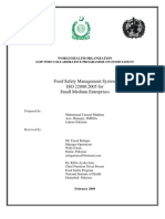 Implementation of FSMS ISO 22000:2005 in Small Medium Enterprises