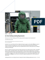 Arc Flash Clothing Labeling Requirements
