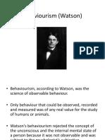 Behaviourism Watson