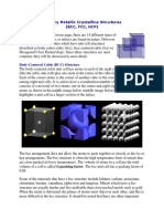 Primary Metallic Crystalline Structures