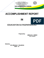 Accomplishment Report in ESP