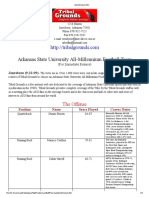 Arkansas State University All-Millennium Football Team