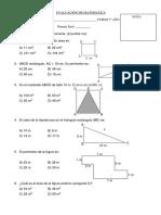 EVALUACIÓN DE MATEMATICAS 7º areas y perimetros