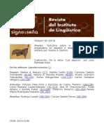 Revista del Instituto de Lingüística. Signo y seña. Número 25. 2014