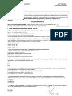 2da_Evaluacion Fisica 2do Medio_MRUR, Caida Libre y Lanzamiento Vertical_2016 Fila A