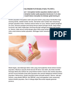 Ciri Ciri Orang Yang Terkena Kanker Payudara - Ini Cirinya