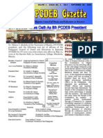 PCDEB Gazette Vol 1 Issue 1